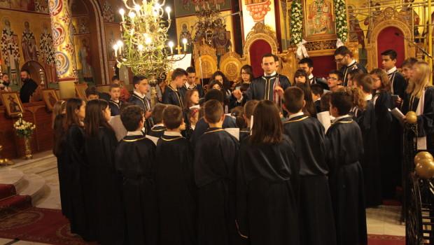 """Η παιδική Βυζαντινή Χορωδία """"Ειρμός"""" στον Ι. Ν. Ευαγγελισμού – 28/3/14"""