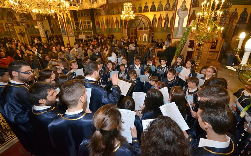 Η Ακαδημία Μουσικής Ειρμός ερμηνεύει τον Ακάθιστο Ύμνο και ψάλλει την ακολουθία των Δ΄ Χαιρετισμών στον Ι. Ν. Ευαγγελισμού της Θεοτόκου