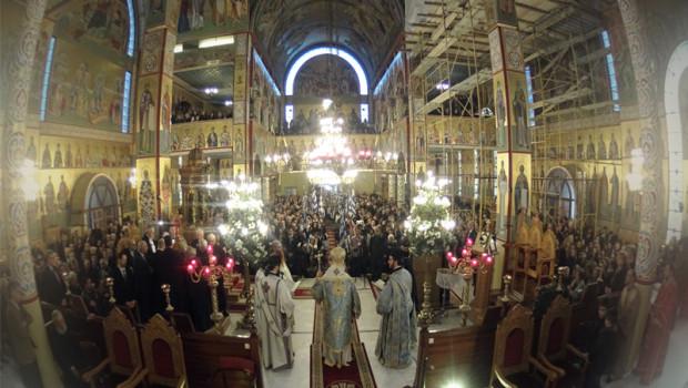 Αρχιερατική Θ. Λειτουργία στον Πανηγυρίζοντα Ι. Ν. Ευαγγελισμού της Θεοτόκου