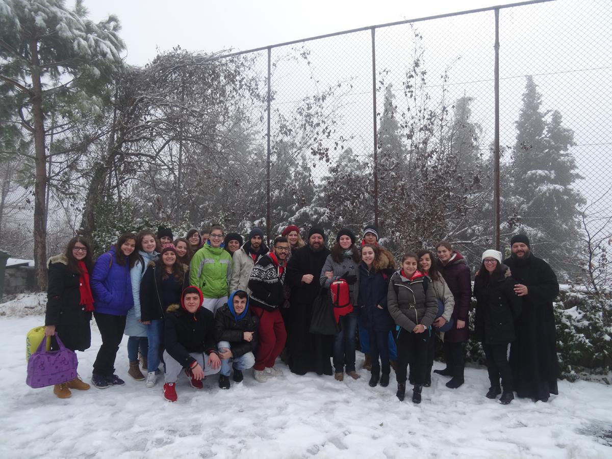 Εκδρομή στη Χριστουγεννιάτικη και χιονισμένη Κατασκήνωση