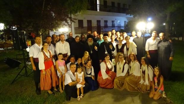 Ο Αρχιεπίσκοπος Μπουζαίου και Βράντσεα της Ρουμανίας κ.  Κυπριανός στην Ενορία