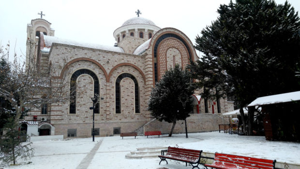 Χιονισμένες και οι Εκκλησίες του Ευόσμου…