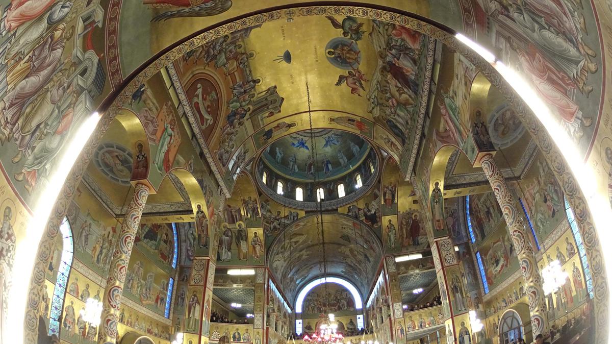Περιφορά Ιεράς Εικόνας του Ευαγγελισμού, Πανηγυρικός Εσπερινός και Δ' Στάση Χαιρετισμών