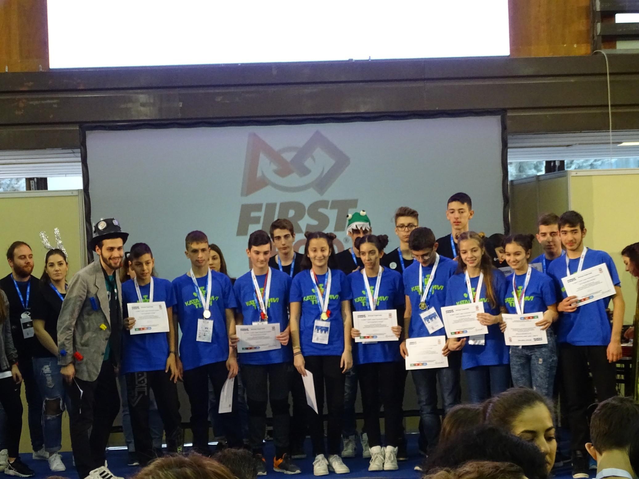 Η ομάδα Ρομποτικής της Κατακόμβης στο FLL2018