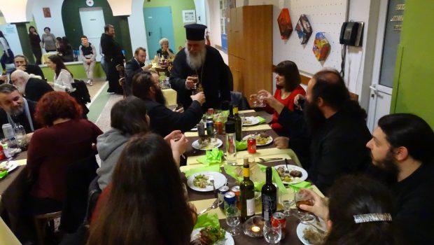 Δείπνο Αγάπης για τα ιερατικά ζευγάρια της Μητροπόλεως, στην Κατακόμβη