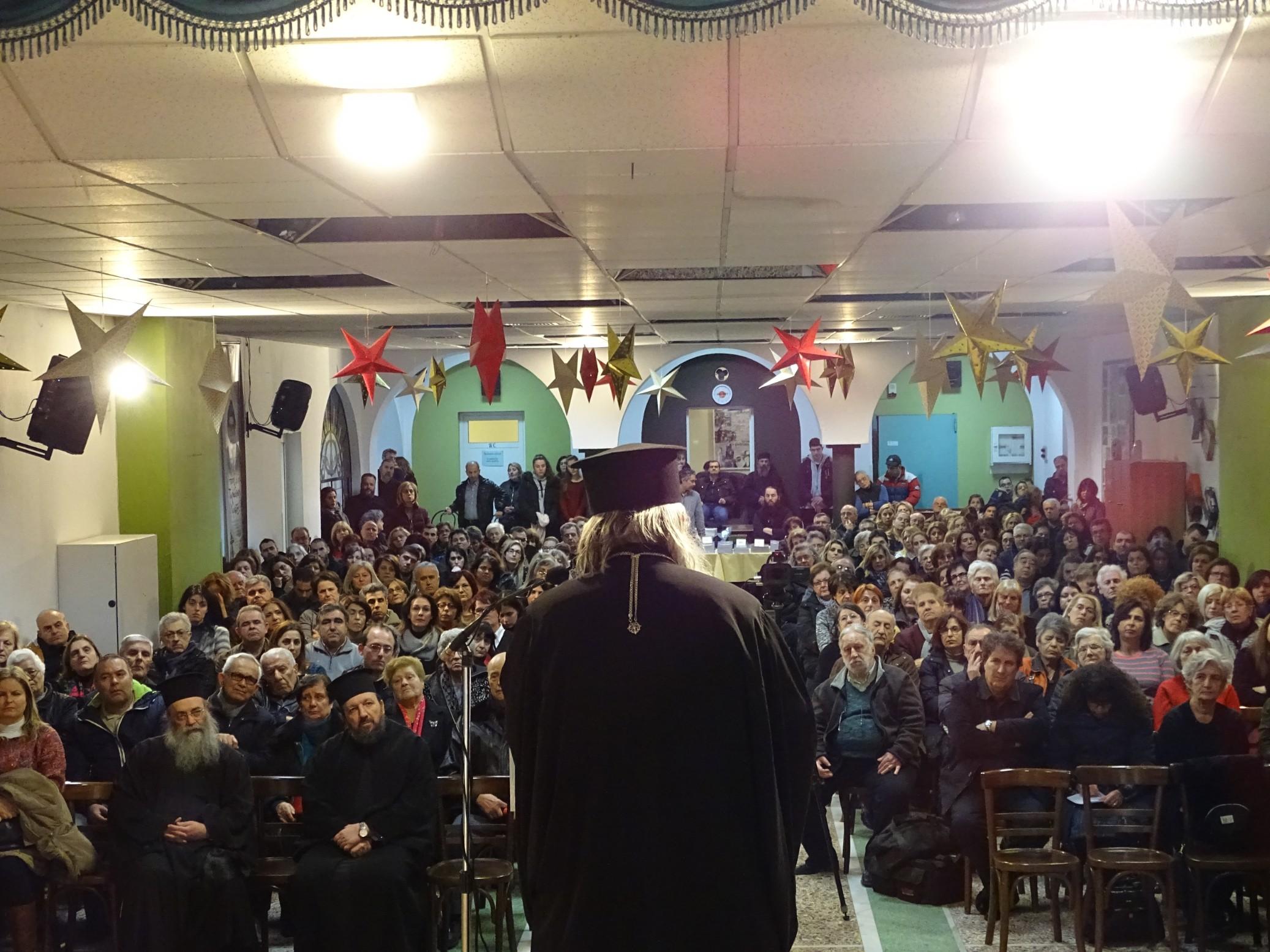 Ο Σεβασμιώτατος Μητροπολίτης Αργολίδος, κ. Νεκτάριος, στην Κατακόμβη