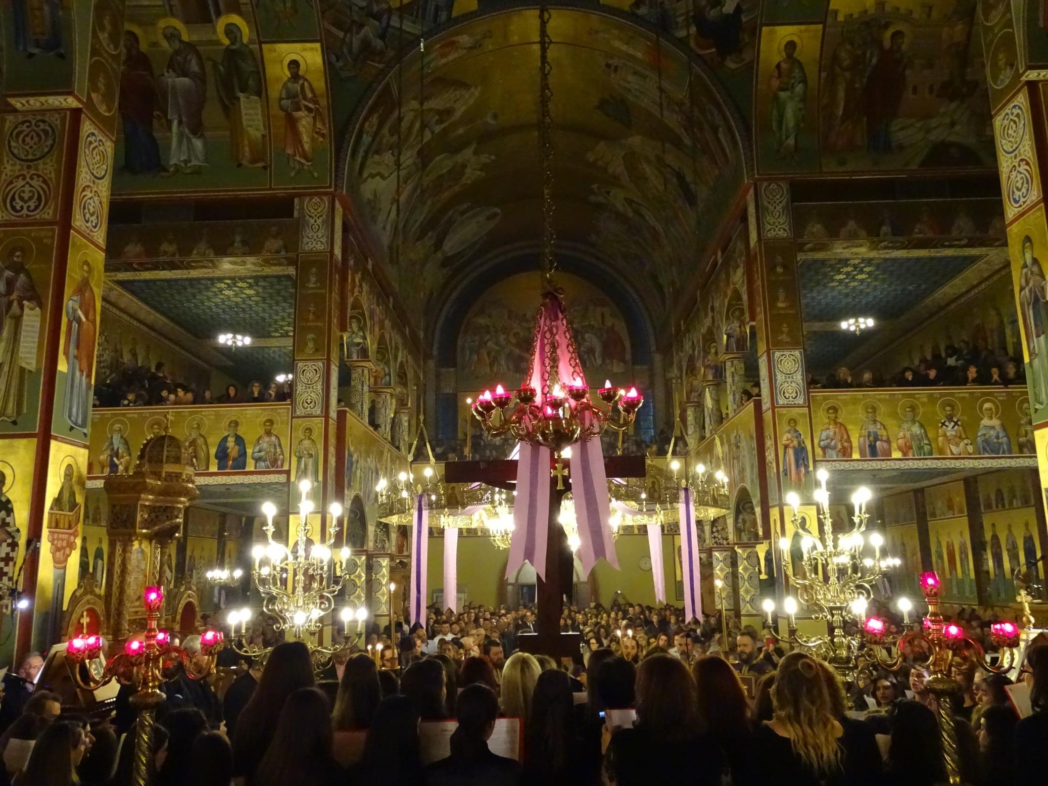 Η Ακολουθία των Παθών στον Ι. Ν. Ευαγγελισμού