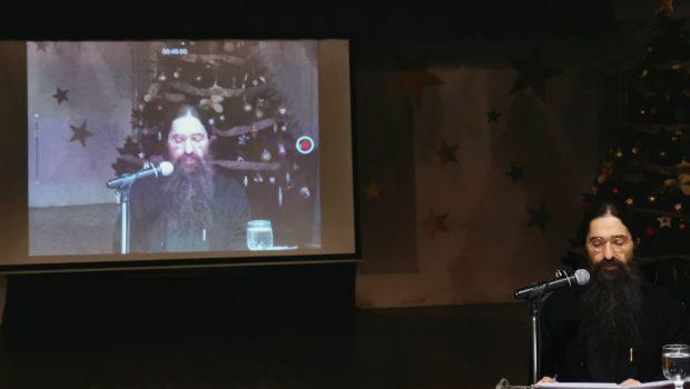 Ο π. Βαρνάβας Γιάγκου στην Κατακόμβη